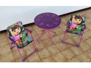 Ensemble table et 2 chaises Dora Disney
