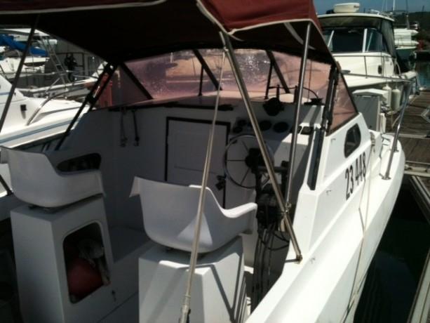 vends-coque-catamaran-750m-x-240-2-x-150-cv-evinrude-a-reviser-big-3