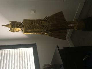 Statue asiatique dorée